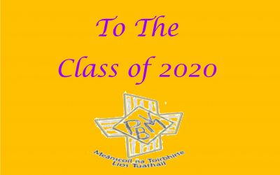 Greetings to the Class of 2020